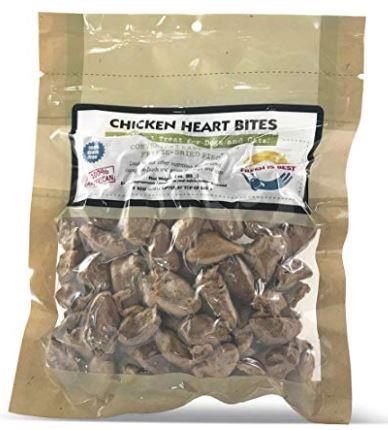 Fresh is Best Freeze-dried Chicken Hearts Amazon link