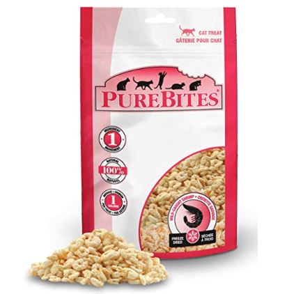 Pure Bites Shrimp cat treats on Amazon
