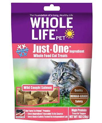Whole Life Salmon Cat Treats on Amazon.com