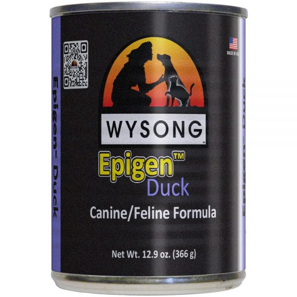wysong epigen canned cat food duck