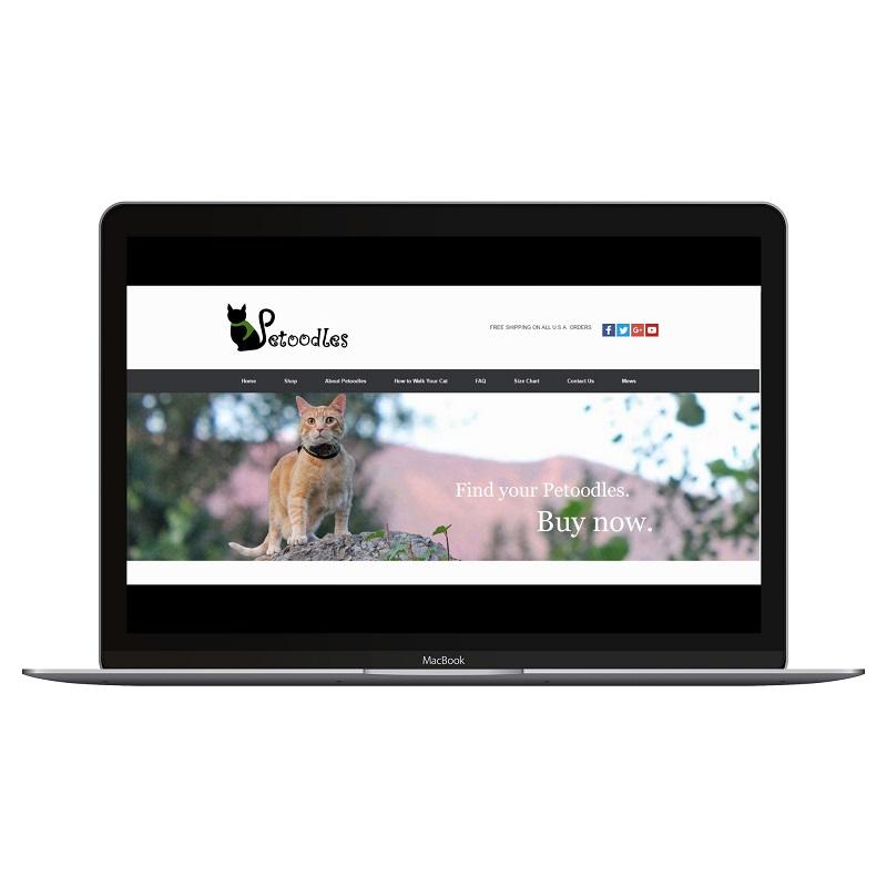 petoodles cat harnesses website screenshot