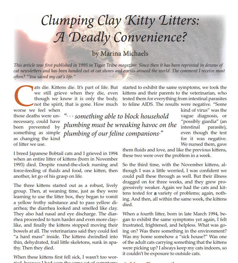 clumping clay litter kittens pdf
