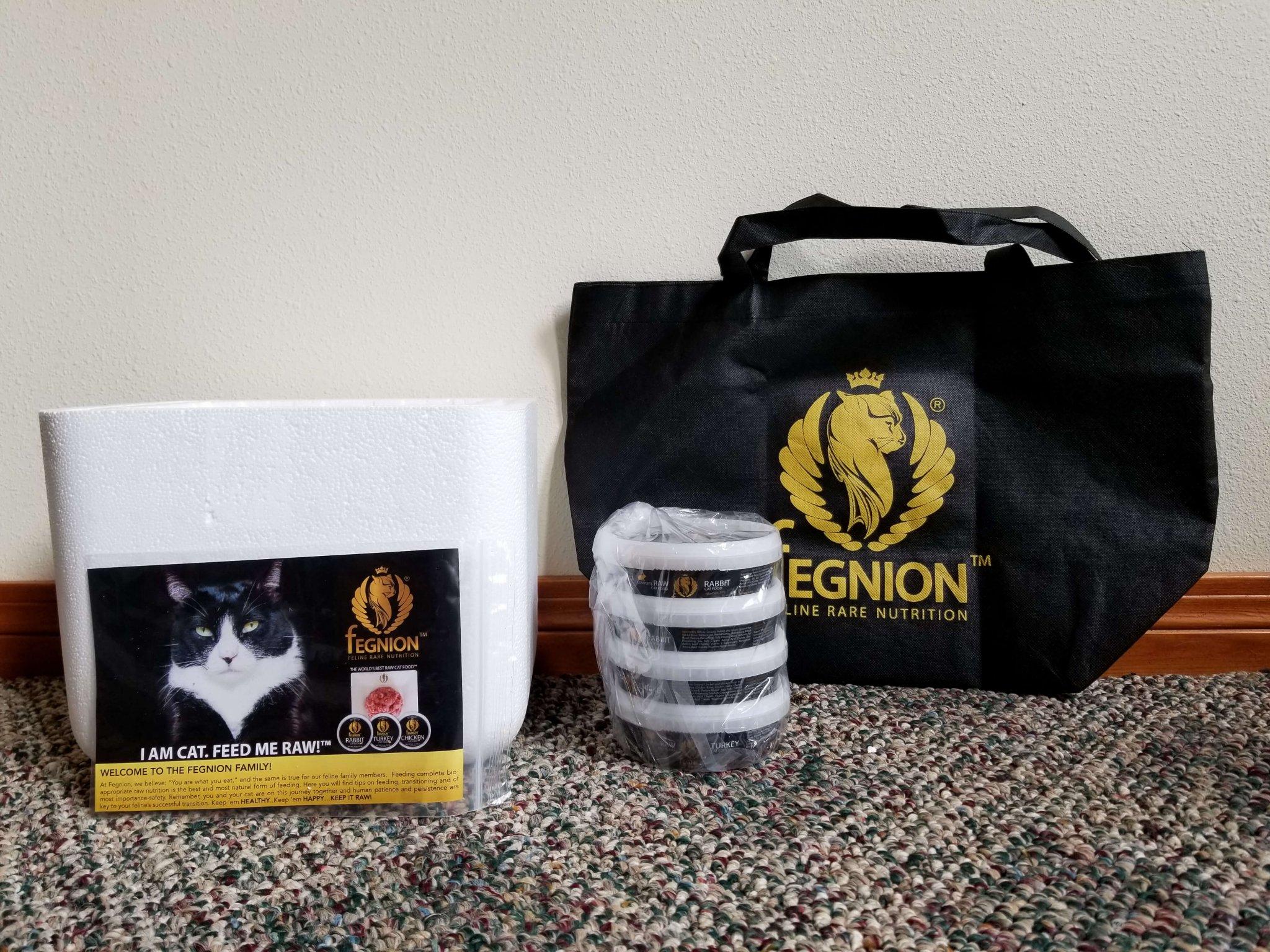 Fegnion Raw Cat Food Box