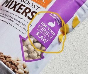 top your kibble with raw