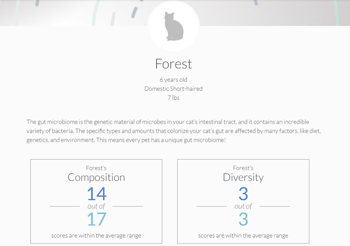 Forest's Microbiome Test Kit Results