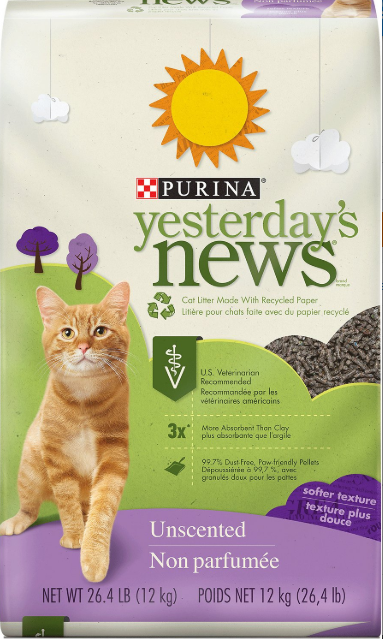 Yesterday's News Best Cat Litter for Sensitive Paws