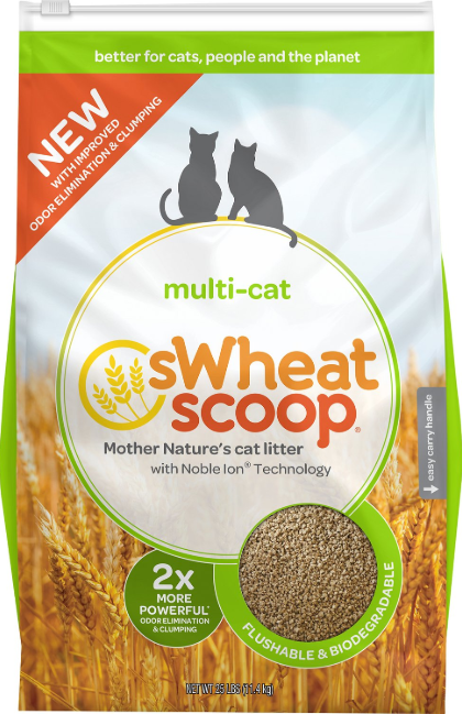 sWheat Scoop Multi Cat Best Cat Litter for Sensitive Paws