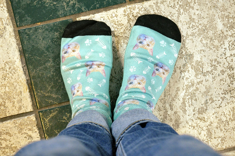Best custom cat socks socksery
