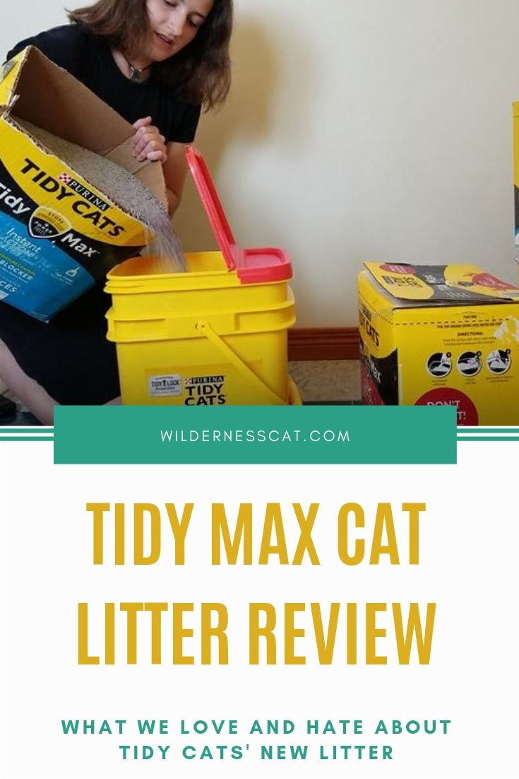 Tidy Max Cat litter review pin 2