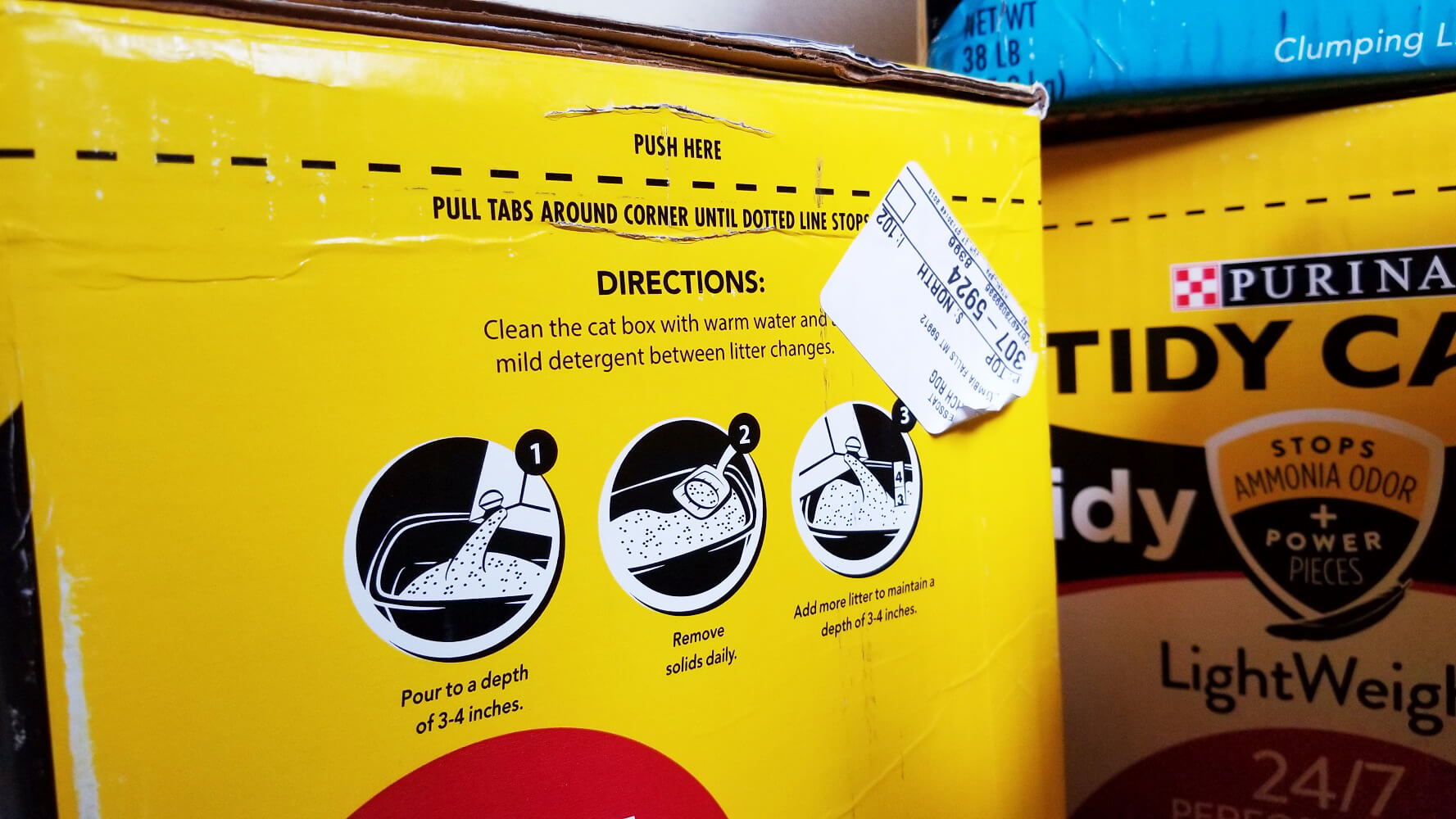 Tidy Max litter directions
