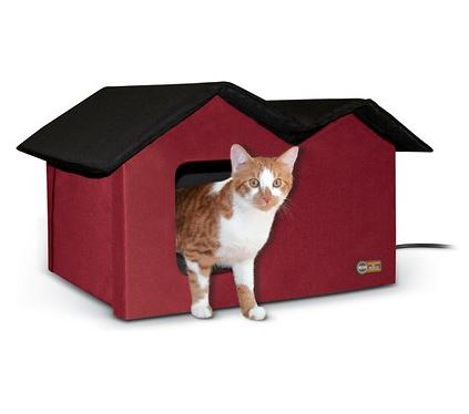 K&H Pet Products heated cat shelter to keep outdoor cats warm Chewy