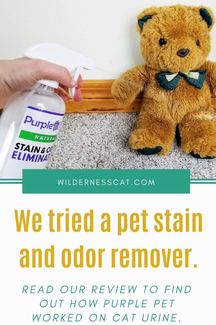 Purple pet stain and odor remover pin 2