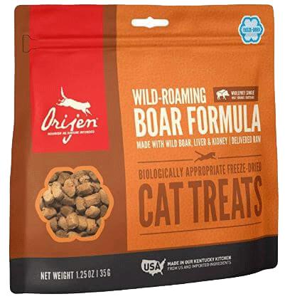 Orijen wild boar freeze-dried cat treats Amazon affiliate link