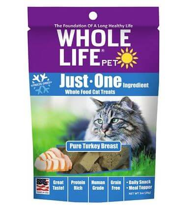 Whole Life Pet turkey breast cat treats