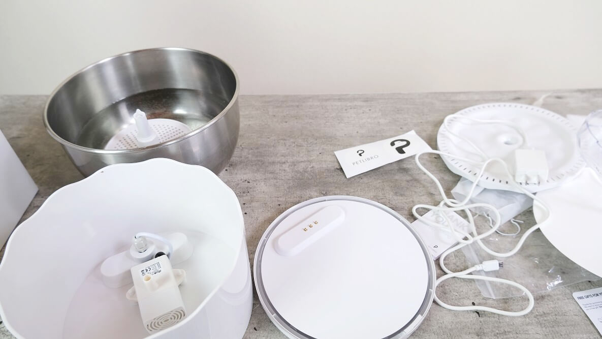 All of the PetLibro automatic pet water fountain parts